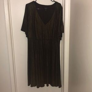 Black/gold dress